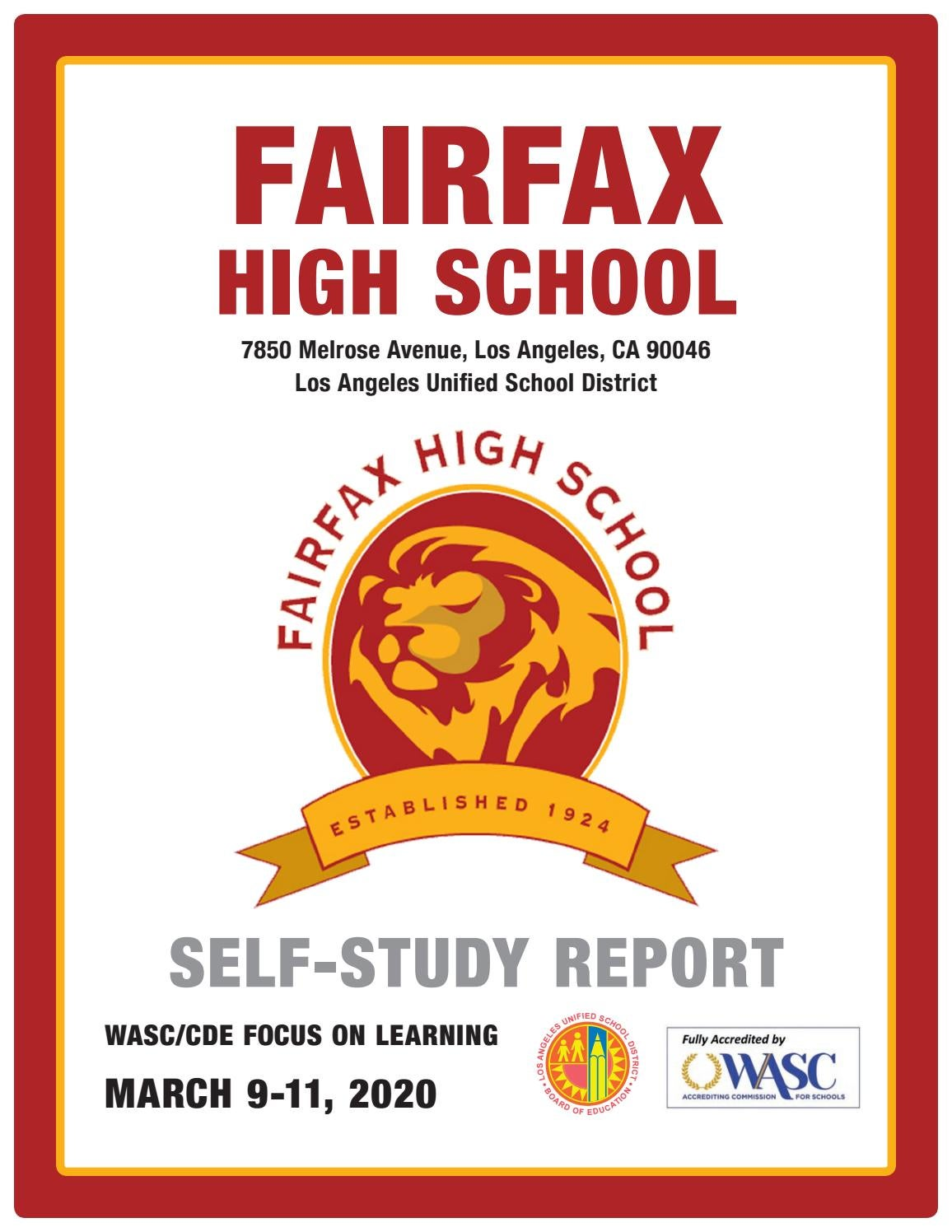 Fairfax High School Self Study Report 2020 By Q Press Issuu