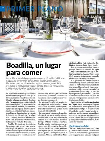 Page 30 of Primer plano: Boadilla, un lugar para comer