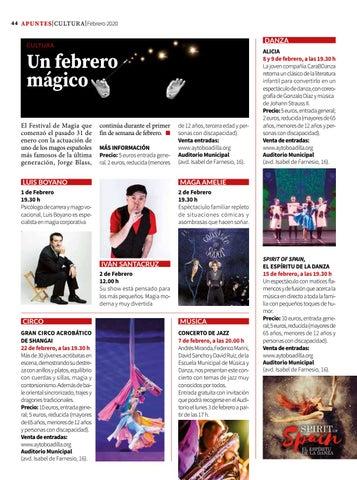 Page 44 of Cultura: un febrero mágico