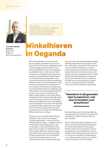 Page 56 of Geert Moerman tweet over 'winkelhieren' in Oeganda