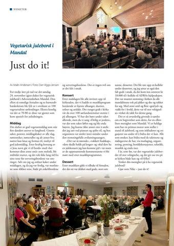 Page 14 of Vegetarisk julebord i Mandal