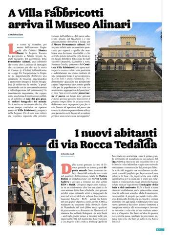 Page 15 of A Villa Fabbricotti arriva il Museo Alinari I nuovi abitanti di via Rocca Tedalda