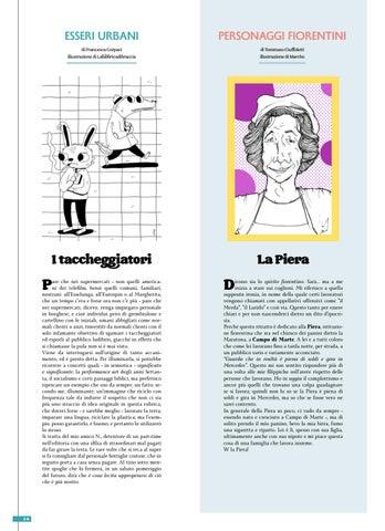 Page 24 of Esseri Urbani: I taccheggiatori Personaggi fiorentini: La Piera
