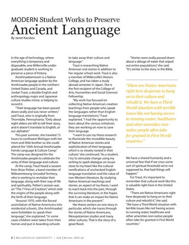 Page 8 of LIVING & LEARNING TOGETHER 8 | STUDENT PRESERVES ANCIENT LANGUAGE LIVING & LEARNING TOGETHER 8 | STUDENT PRESERVES ANCIENT LANGUAGE