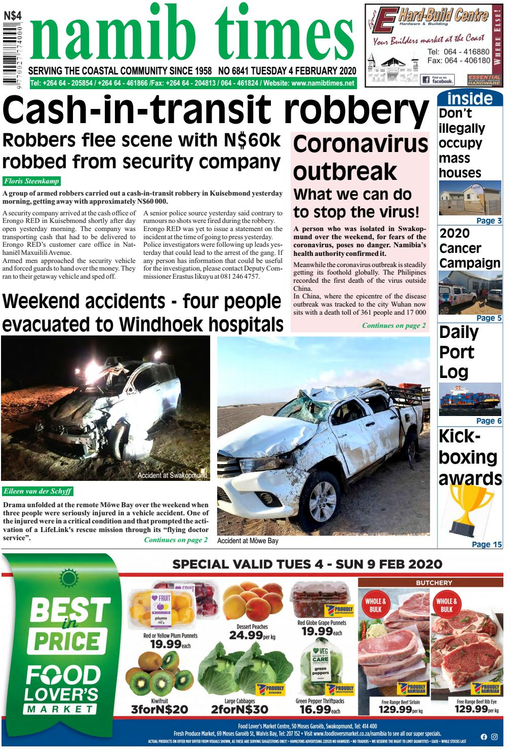 coronavirus swakopmund