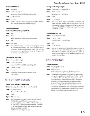 Page 15 of SOCIAL & SPECIAL EVENTS