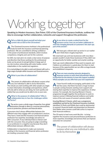 Page 16 of Sian Fisher, Chartered Insurance Institute