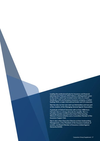 Page 17 of Sian Fisher, Chartered Insurance Institute