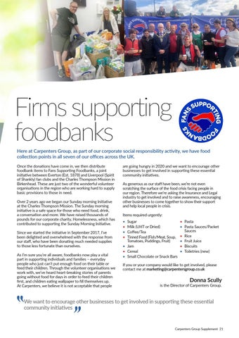 Page 21 of Fans Supporting Foodbanks