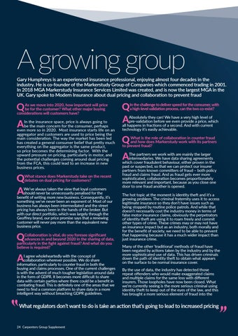 Page 24 of Gary Humphreys speaks about dual pricing and collaboration to prevent fraud