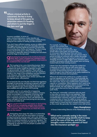 Page 25 of Gary Humphreys speaks about dual pricing and collaboration to prevent fraud
