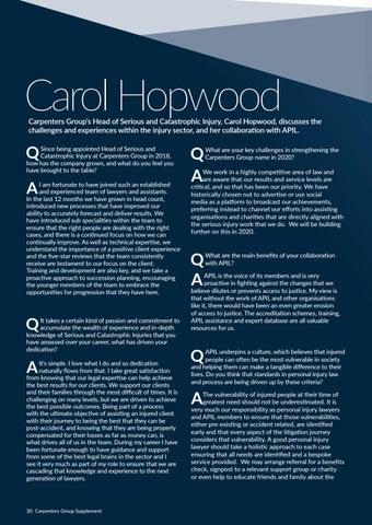 Page 30 of Carol Hopwood, APIL