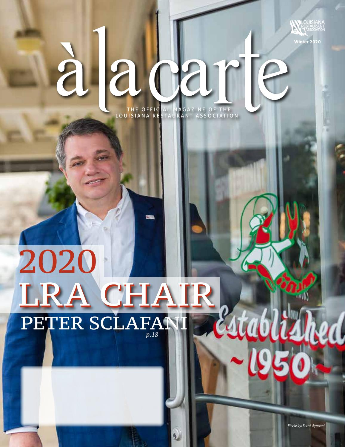 carte election legislative 2020 Winter 2020   a la carte by Louisiana Restaurant Association   issuu