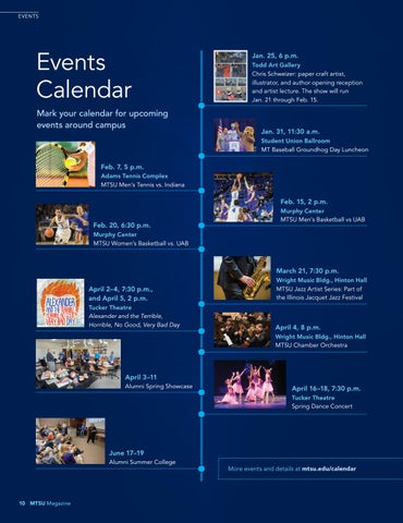 Page 10 of Events Calendar