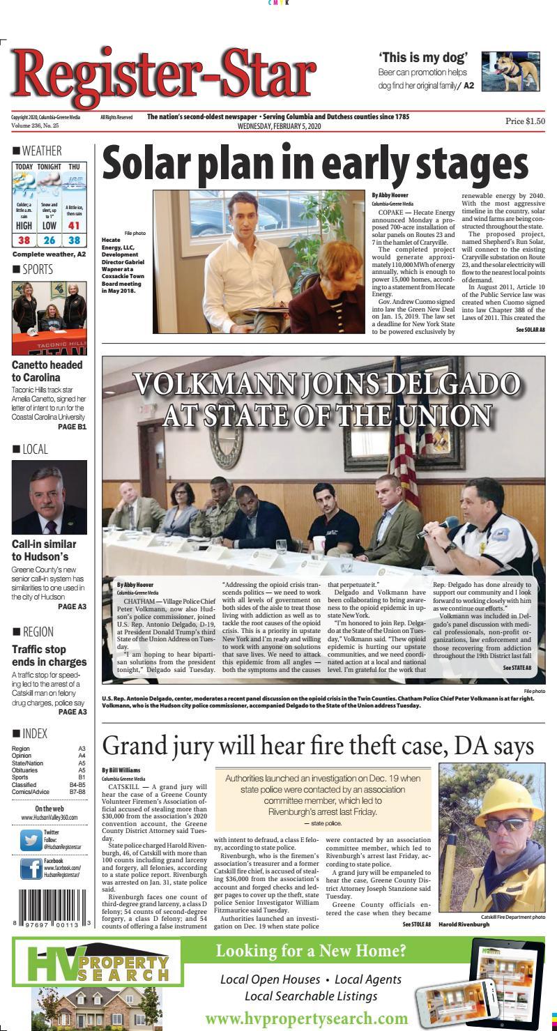 eedition Register Star February 5 2020 by Columbia Greene