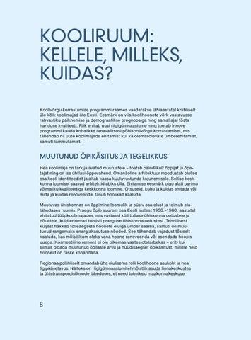 Page 10 of Kooliruum: kellele, milleks, kuidas? Katrin Koov ja Kadri Klementi