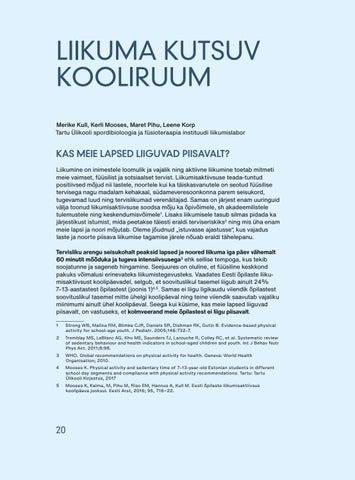 Page 22 of Liikuma kutsuv kooliruum. Merike Kull, Kerli Mooses, Maret Pihu, Leene Korp