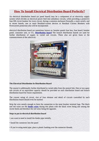 Types Of Electrical Panel Boards By Accupanel Energy Pvt Ltd Issuu