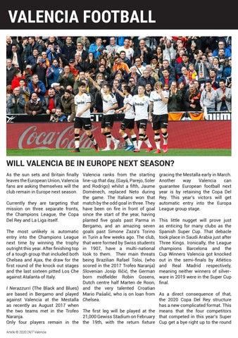 Page 34 of VALENCIA FOOTBALL