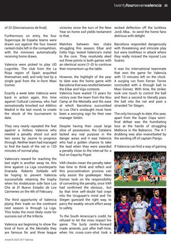 Page 35 of VALENCIA FOOTBALL