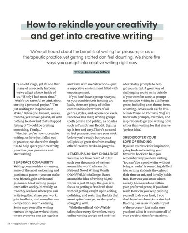 Page 44 of How to rekindle your creativity and get into creative writing
