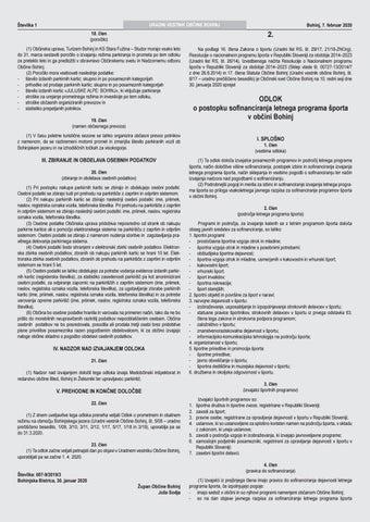 Page 11 of ODLOK o postopku sofinanciranja letnega programa športa v občini