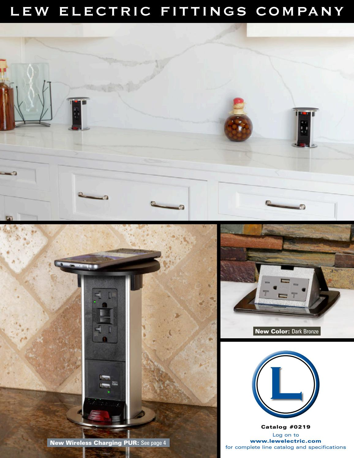 Stainless Lew Electric PUR20-S Round Countertop Pop Up 20 Amp Receptacles