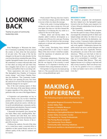 Page 17 of COMMUNITY LEADERSHIP VISITS