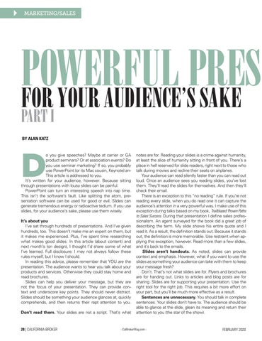 Page 28 of POWERFUL PRESENTATIONS FOR YOUR AUDIENCE'S SAKE PART I