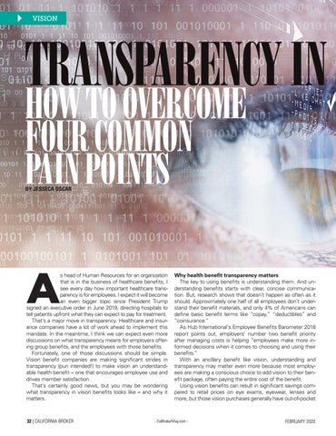 Page 32 of TRANSPARENCY IN VISION BENEFITS HOW TO OVERCOME FOUR COMMON PAIN POINTS BY JESSECA OSCAR