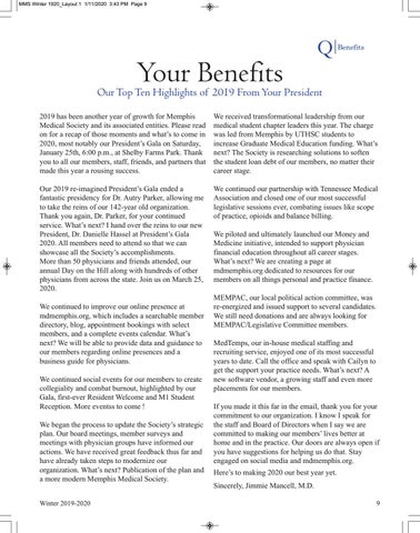 Page 11 of Your Benefits