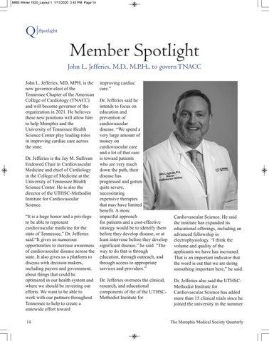 Page 16 of Spotlight: John L. Jefferies, M.D., MPH