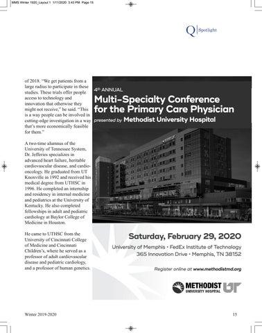 Page 17 of Spotlight: John L. Jefferies, M.D., MPH