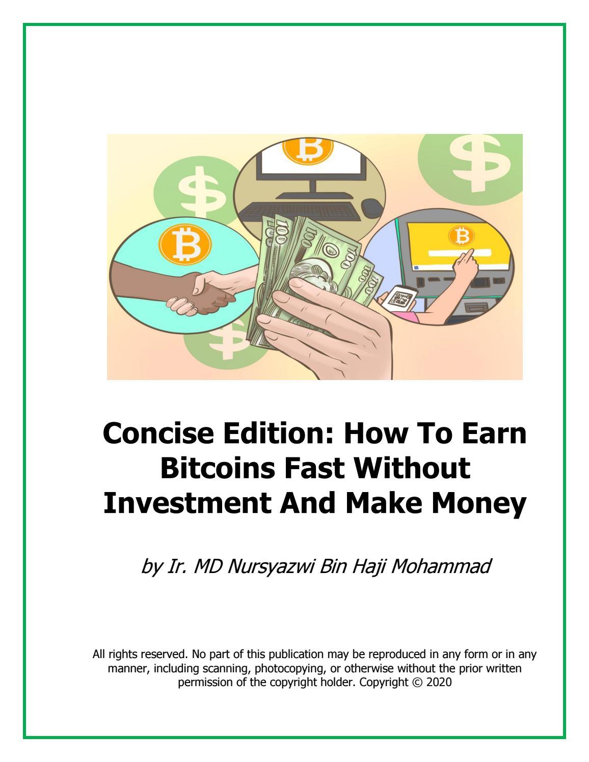 how to earn bitcoin very fast