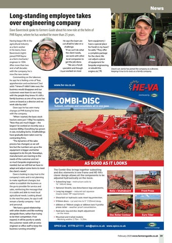 Page 39 of Long-standing employee takes over PHR Agricultural Engineering