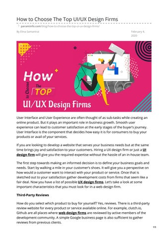 How To Choose The Top Uiux Design Firms By Param Info Issuu