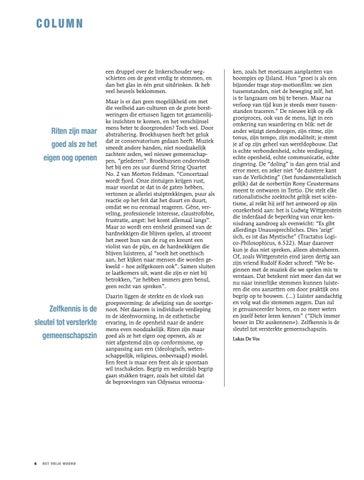 Page 6 of DE OORSPRONG EN ONTWIKKELING VAN HET FEEST VAN DE VRIJZINNIGE JEUGD, NIELS DE NUTTE EN FRANK SCHEELINGS, CAVA