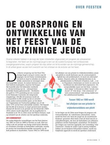 Page 7 of DE OORSPRONG EN ONTWIKKELING VAN HET FEEST VAN DE VRIJZINNIGE JEUGD, NIELS DE NUTTE EN FRANK SCHEELINGS, CAVA