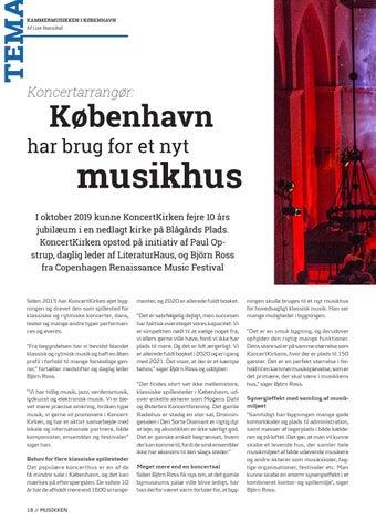 Page 18 of Tema // København har brug for et nyt musikhus