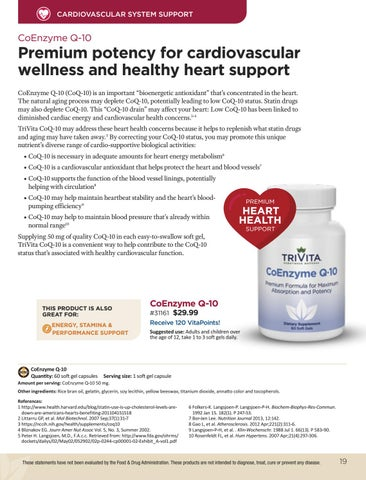 Page 19 of CoEnzyme Q-10