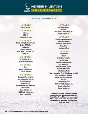 Page 40 of Member Milestone Anniversaries