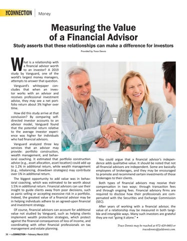 Page 38 of Measuring the Value of a Financial Advisor - Study asserts that these relationships can make a difference for investors