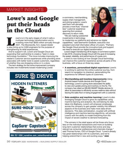 Page 30 of Lowe's and Google Cloud