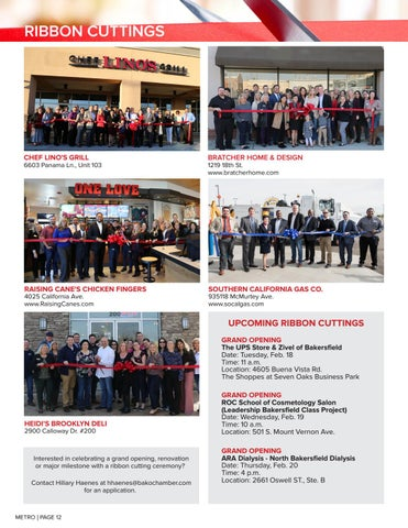 Page 12 of RIBBON CUTTINGS