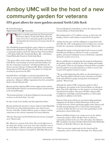 Page 14 of Amboy UMC will be the host of a new community garden for veterans