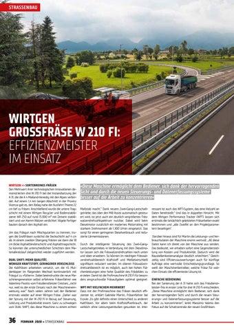 Page 36 of Effizienzmeister im Einsatz: Wirtgen Großfräse W 210 FI