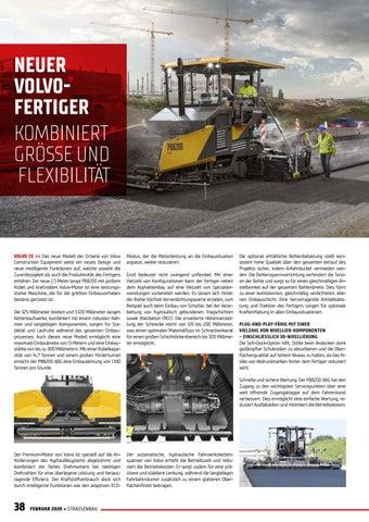 Page 38 of Neuer Volvo-Fertiger kombiniert Größe und Flexibilität