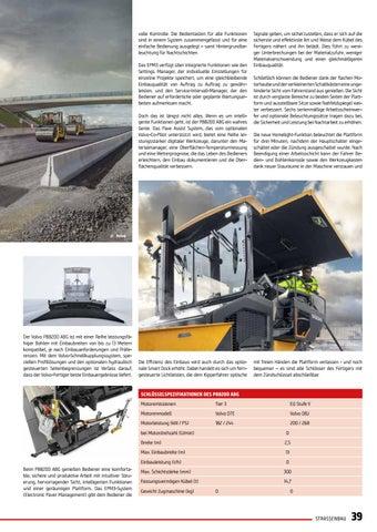 Page 39 of Neuer Volvo-Fertiger kombiniert Größe und Flexibilität