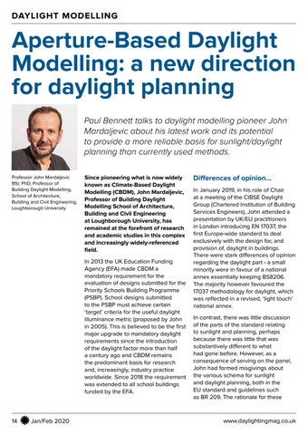 Page 14 of Aperture-Based Daylight Modelling: a new direction for daylight planning