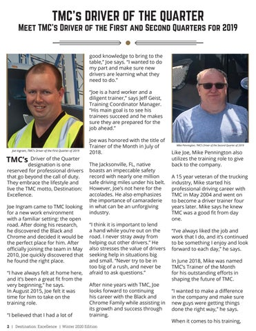 Page 2 of TMC's Driver of the Quarter